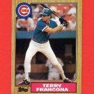 1987 Topps Baseball #785 Terry Francona - Chicago Cubs