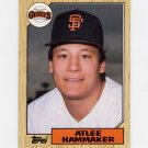 1987 Topps Baseball #781 Atlee Hammaker - San Francisco Giants Ex