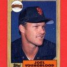 1987 Topps Baseball #759 Joel Youngblood - San Francisco Giants Ex