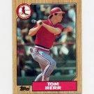 1987 Topps Baseball #721 Tom Herr - St. Louis Cardinals Ex