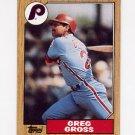1987 Topps Baseball #702 Greg Gross - Philadelphia Phillies