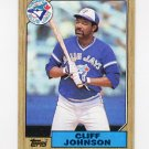 1987 Topps Baseball #663 Cliff Johnson - Toronto Blue Jays