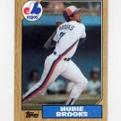 1987 Topps Baseball #650 Hubie Brooks - Montreal Expos