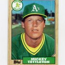 1987 Topps Baseball #649 Mickey Tettleton - Oakland A's NM-M