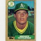 1987 Topps Baseball #649 Mickey Tettleton - Oakland A's Ex