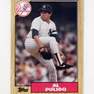 1987 Topps Baseball #642 Al Pulido - New York Yankees