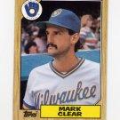 1987 Topps Baseball #640 Mark Clear - Milwaukee Brewers