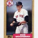 1987 Topps Baseball #632 Rob Woodward - Boston Red Sox