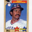 1987 Topps Baseball #607 Tony Bernazard AS - Cleveland Indians