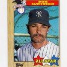 1987 Topps Baseball #606 Don Mattingly AS - New York Yankees