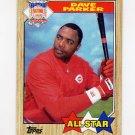 1987 Topps Baseball #600 Dave Parker AS - Cincinnati Reds