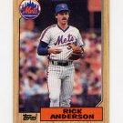 1987 Topps Baseball #594 Rick Anderson - New York Mets