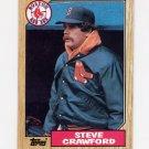 1987 Topps Baseball #589 Steve Crawford - Boston Red Sox
