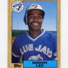1987 Topps Baseball #574 Manny Lee - Toronto Blue Jays