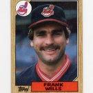 1987 Topps Baseball #551 Frank Wills - Cleveland Indians