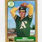 1987 Topps Baseball #548 Bill Mooneyham - Oakland A's