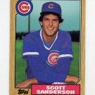 1987 Topps Baseball #534 Scott Sanderson - Chicago Cubs