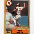 1987 Topps Baseball #528 Ken Dixon - Baltimore Orioles