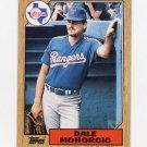 1987 Topps Baseball #497 Dale Mahorcic - Texas Rangers