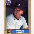 1987 Topps Baseball #483 Dwight Lowry - Detroit Tigers NM-M