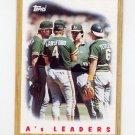 1987 Topps Baseball #456 The Oakland A's Team Leaders