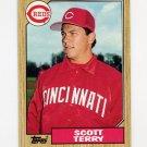 1987 Topps Baseball #453 Scott Terry RC - Cincinnati Reds