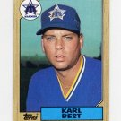 1987 Topps Baseball #439 Karl Best - Seattle Mariners