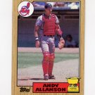 1987 Topps Baseball #436 Andy Allanson RC - Cleveland Indians