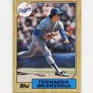 1987 Topps Baseball #410 Fernando Valenzuela - Los Angeles Dodgers Ex