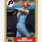 1987 Topps Baseball #409 Milt Thompson - Philadelphia Phillies