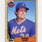 1987 Topps Baseball #404 Doug Sisk - New York Mets