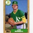 1987 Topps Baseball #391 Jay Howell - Oakland A's