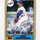 1987 Topps Baseball #385 Orel Hershiser - Los Angeles Dodgers