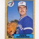 1987 Topps Baseball #371 Mark Eichhorn - Toronto Blue Jays