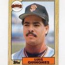 1987 Topps Baseball #362 Luis Quinones - San Francisco Giants