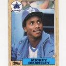 1987 Topps Baseball #347 Mickey Brantley - Seattle Mariners