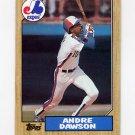 1987 Topps Baseball #345 Andre Dawson - Montreal Expos