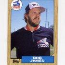 1987 Topps Baseball #342 Bob James - Chicago White Sox