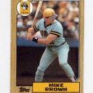1987 Topps Baseball #341 Mike C. Brown - Pittsburgh Pirates