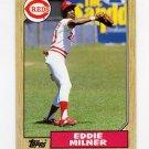 1987 Topps Baseball #253 Eddie Milner - Cincinnati Reds