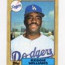 1987 Topps Baseball #232 Reggie Williams - Los Angeles Dodgers