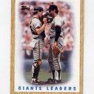1987 Topps Baseball #231 San Francisco Giants Team Leaders / Bob Brenly / Jim Gott