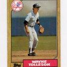 1987 Topps Baseball #224 Wayne Tolleson - New York Yankees
