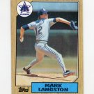 1987 Topps Baseball #215 Mark Langston - Seattle Mariners