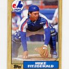 1987 Topps Baseball #212 Mike Fitzgerald - Montreal Expos