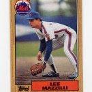 1987 Topps Baseball #198 Lee Mazzilli - New York Mets