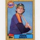 1987 Topps Baseball #197 Mark Bailey - Houston Astros Ex