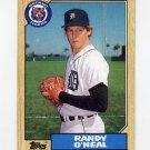 1987 Topps Baseball #196 Randy O'Neal - Detroit Tigers