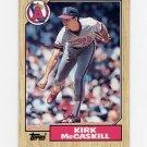 1987 Topps Baseball #194 Kirk McCaskill - California Angels Ex
