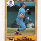 1987 Topps Baseball #190 Jim Sundberg - Kansas City Royals